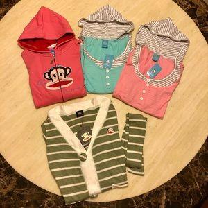 Bundle of 4 New Paul Frank Hoodie/Sweater/T-shirts